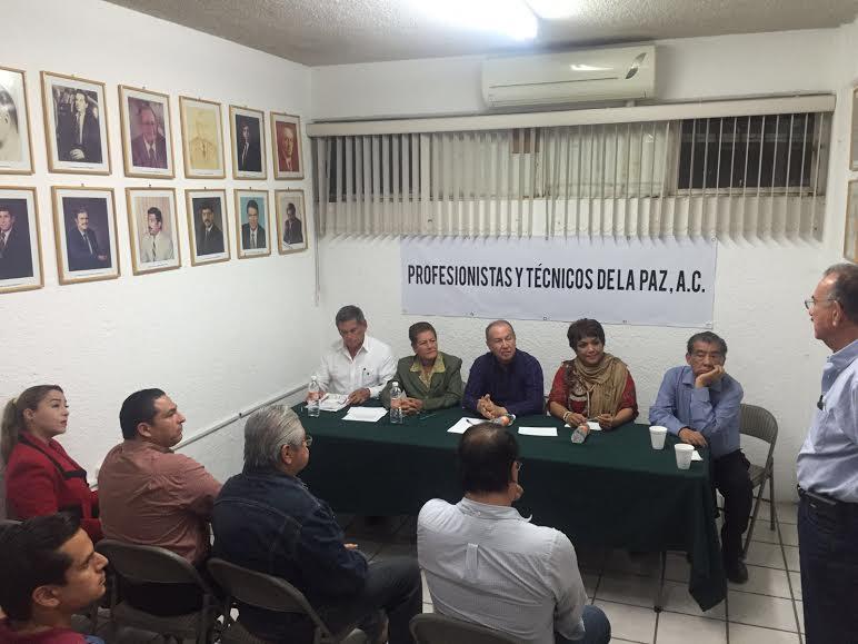 Profesionistas y Técnicos de La Paz, A.C. se reunió en la Sala Luis Barajas del CDE PRI BCS