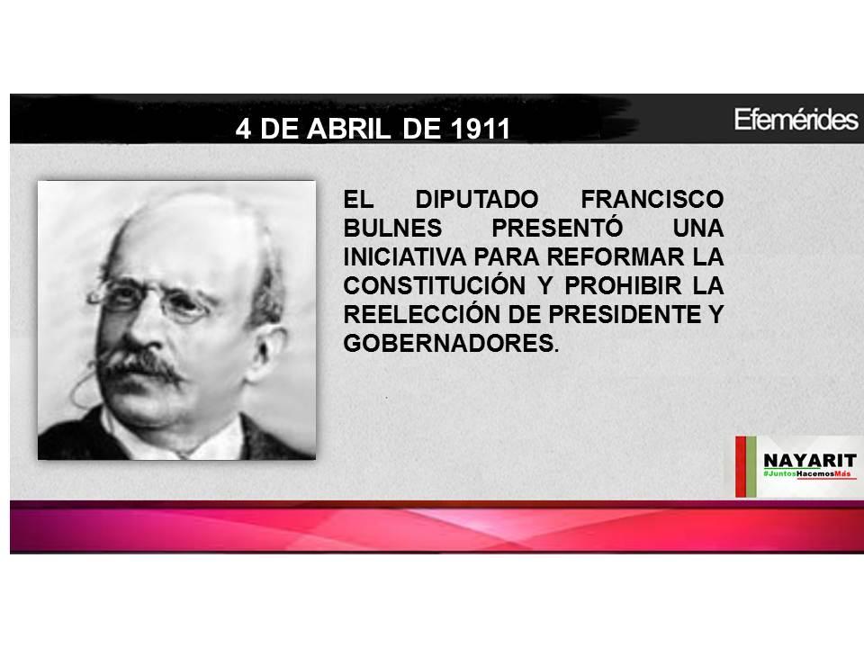 El Diputado Francisco Bulnes Presentó una iniciativa para reformar la Constitución y prohibir la reelecció...