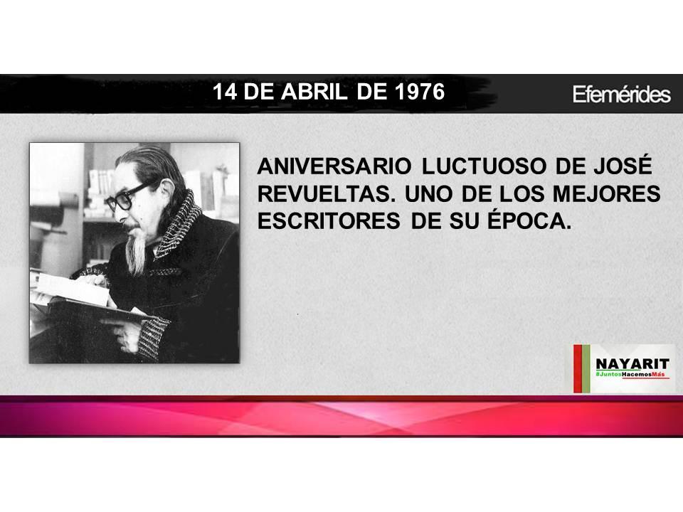 14 DE ABRIL DE 1976.- HOY RECORDAMOS EN SU ANIVERSARIO LUCTUOSO A JOSÉ REVUELTAS, ESCRITOR Y ACTIVISTA POL...