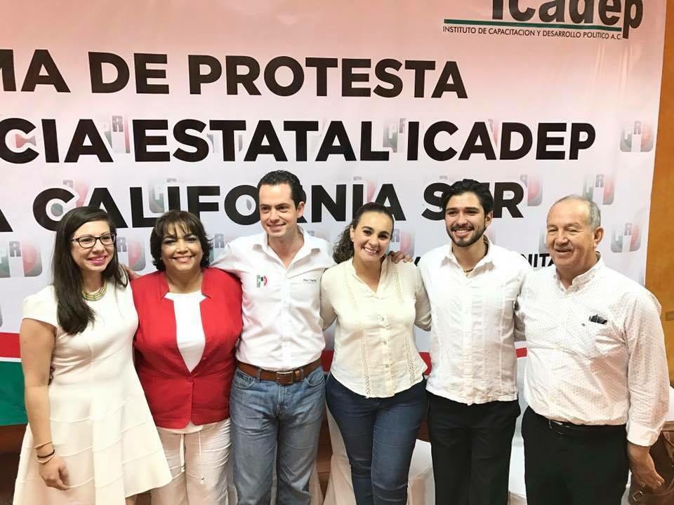 VALERIA ROBLES Y HUGO CASTRO DIRIGENTES DEL ICADEP EN BCS