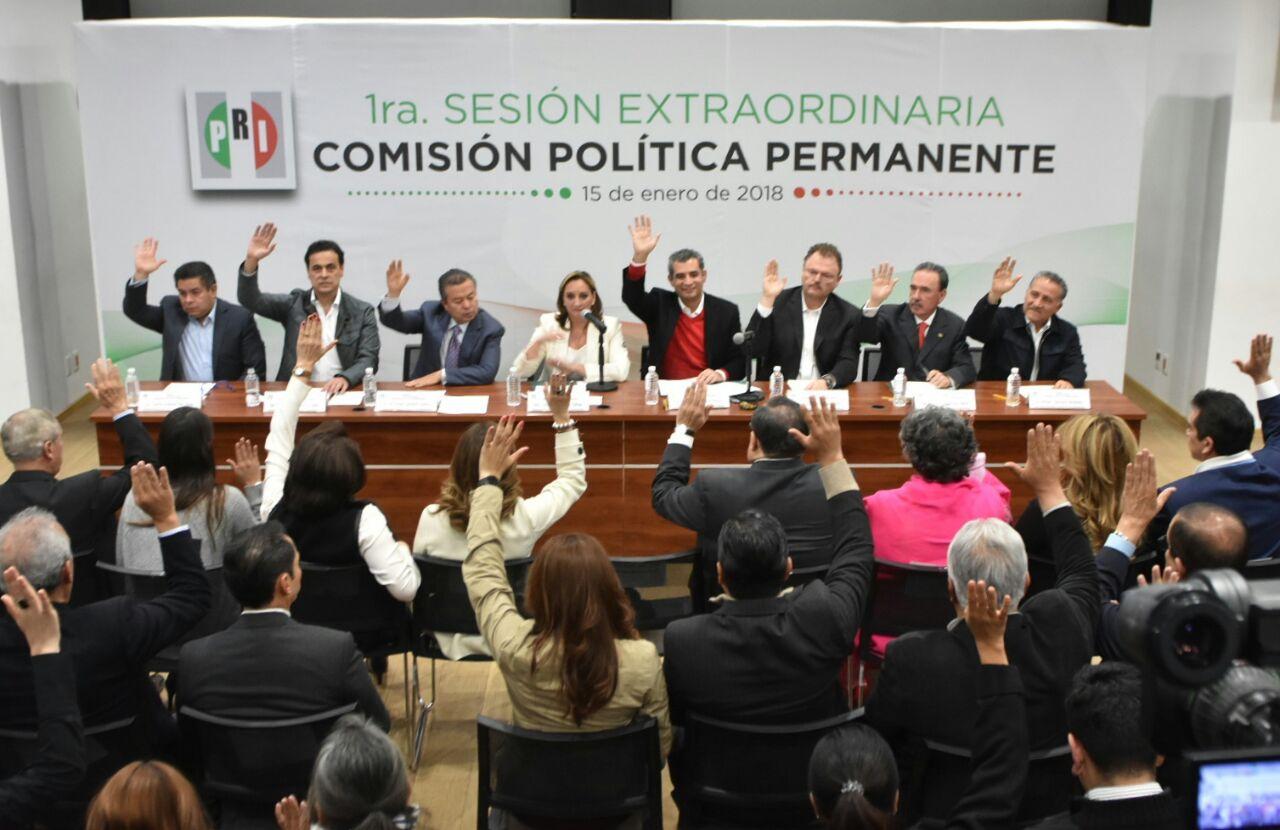APRUEBA PRI SU PLATAFORMA ELECTORAL  Y CAMBIA EL NOMBRE DE LA COALICIÓN