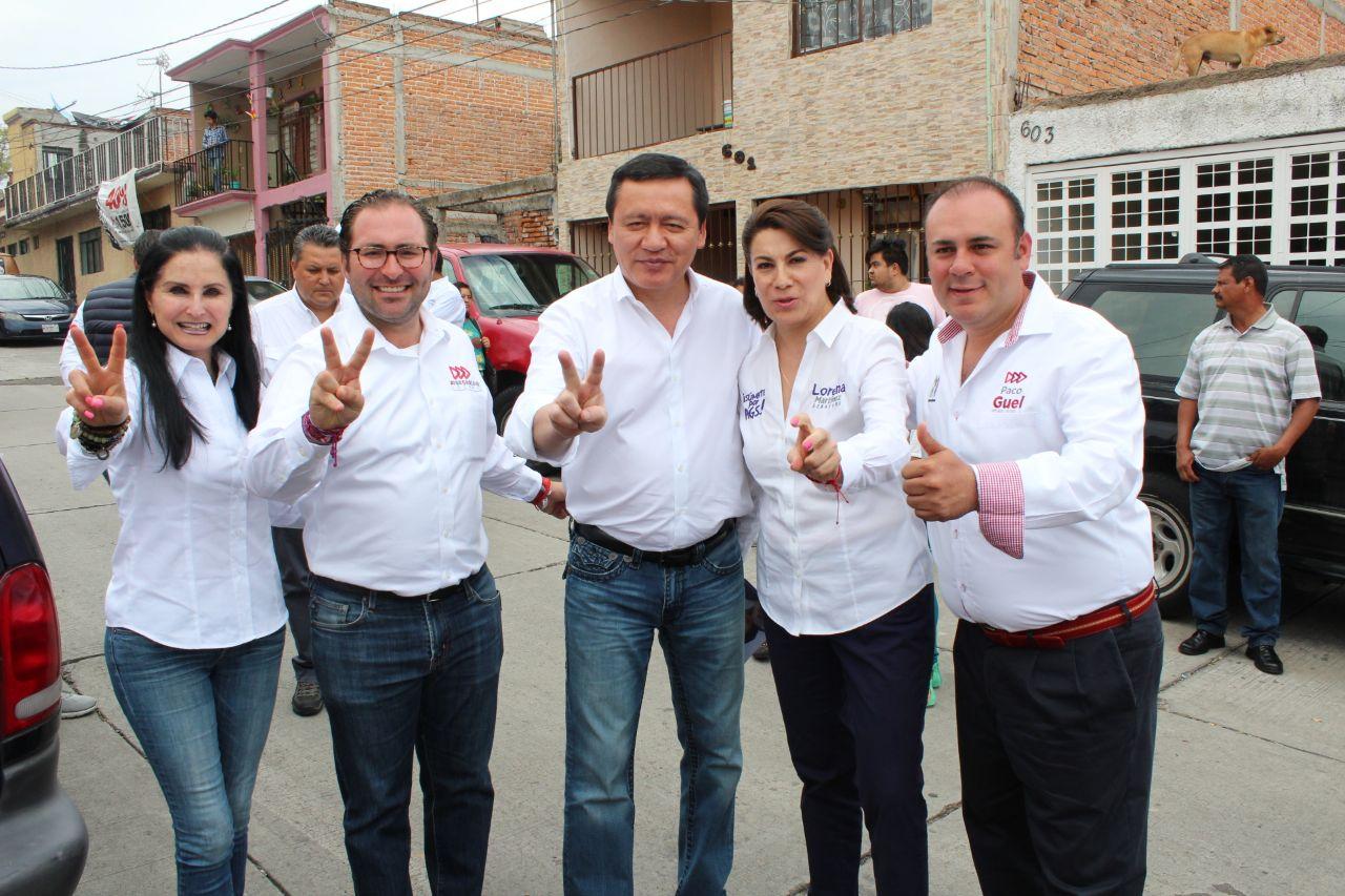 MIGUEL ÁNGEL OSORIO CHONG Y JOSÉ CARLOS LOZANO TOCARON LAS PUERTAS DEL DISTRITO 02