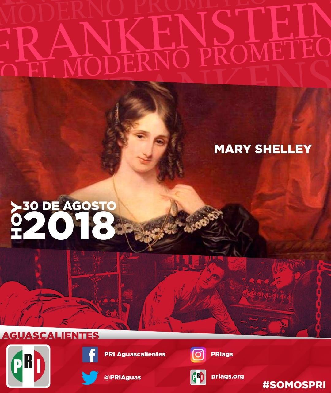 """#UnDíaComoHoy 30 de Agosto pero de 1797, Nace la dramaturga británica Mary Shelley, autora de """"Frankenstein"""""""