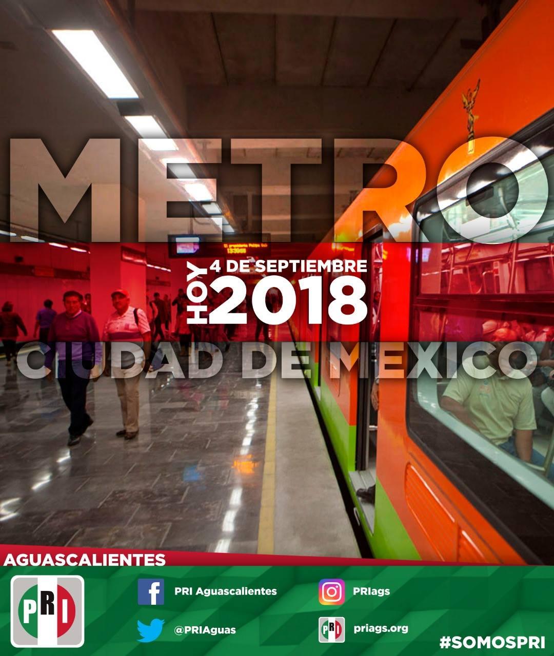 #UnDíaComoHoy 4 de Septiembre pero de 1969 se inaugura el Metro de la Ciudad de México es un sistema de tr...