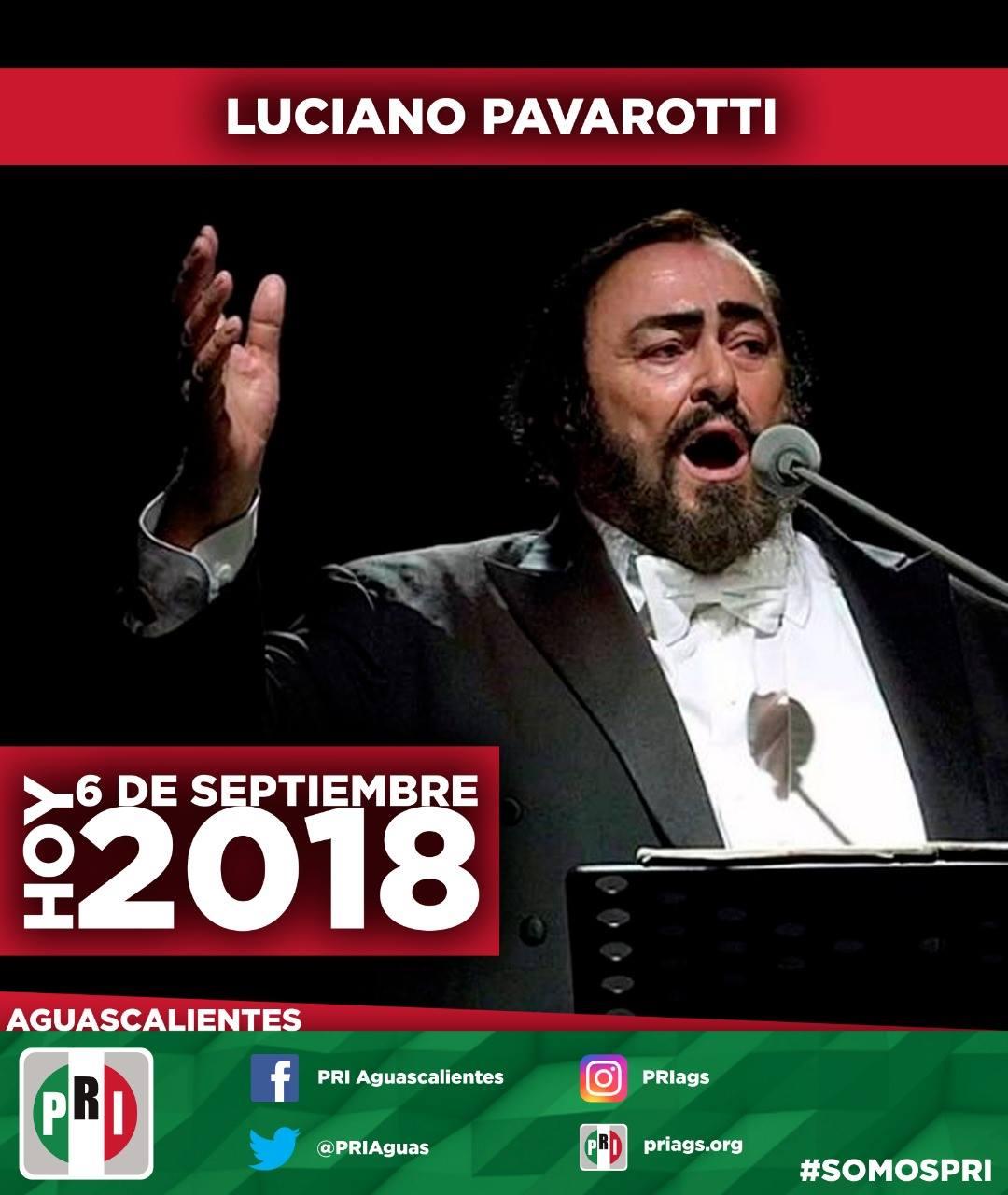 #UnDíaComoHoy 6 de Septiembre pero del 2007 Muere Luciano Pavarotti, tenor lírico italiano, uno de los can...