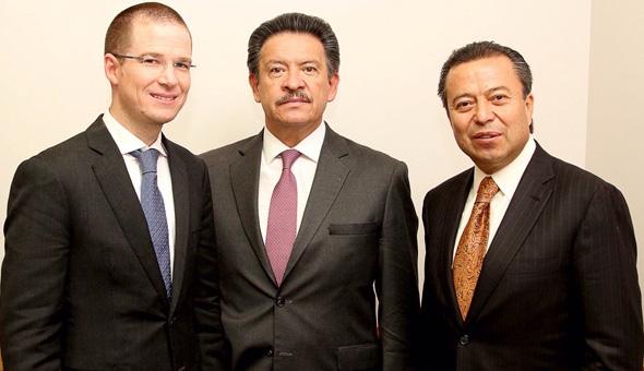 Reunión entre presidentes del PRI, PAN y PRD