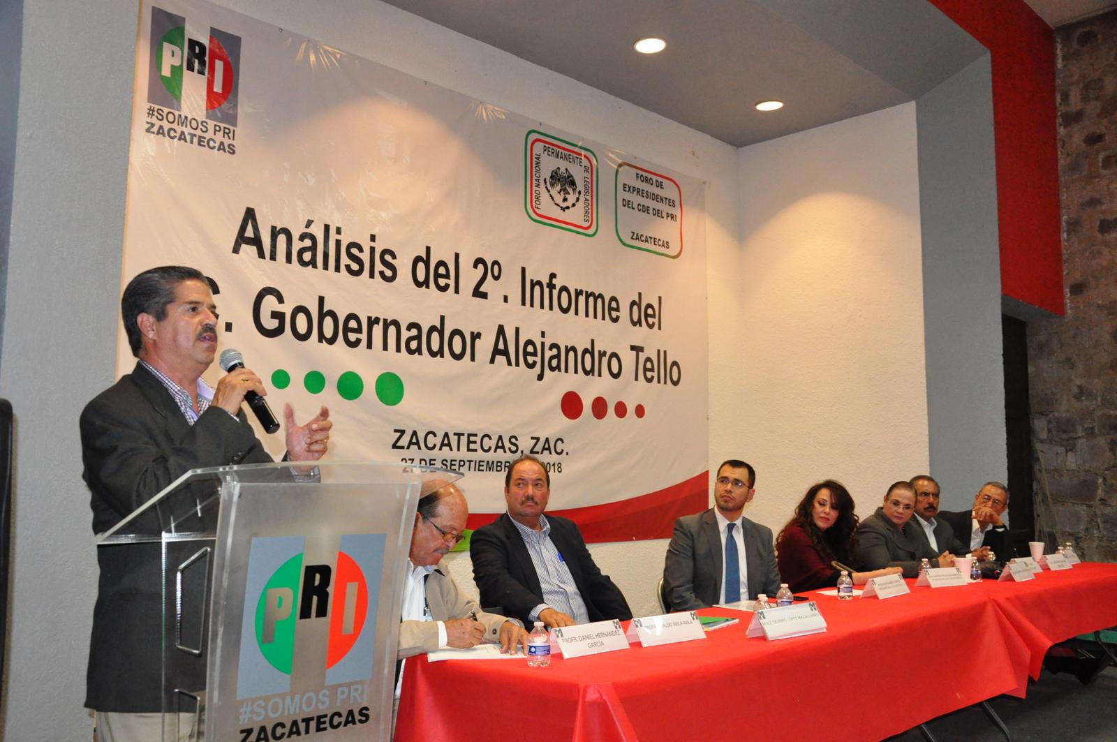 REALIZA PRI MESA DE ANÁLISIS DEL SEGUNDO INFORME DE GOBIERNO DE ALEJANDRO TELLO