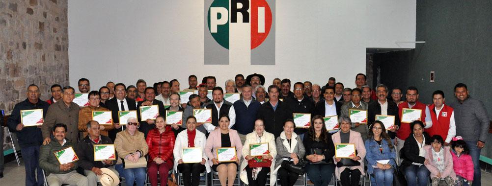 RECONOCE EL PRI TRABAJO DE DELEGADOS MUNICIPALES Y DISTRITALES