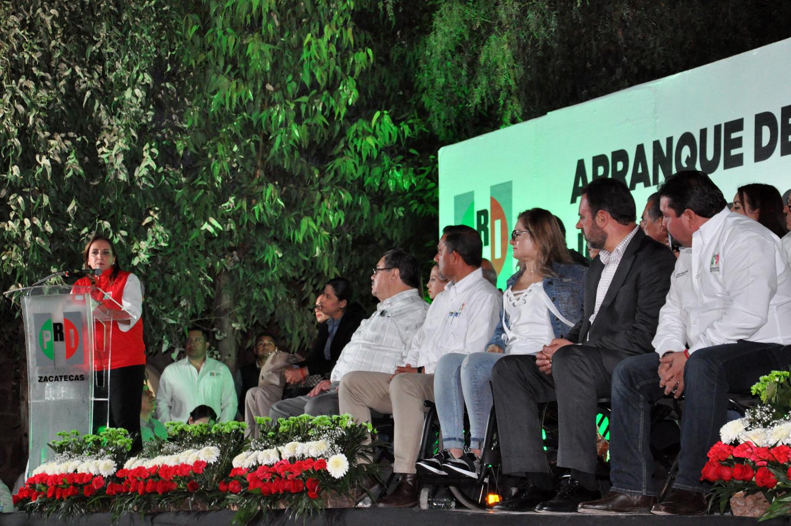 ENTRE PRIISTAS DE CARNE Y HUESO, LA PRESIDENTA NACIONAL DEL PRI OFRECE APERTURA, INCLUSIÓN Y TRIUNFOS ELECTORALES