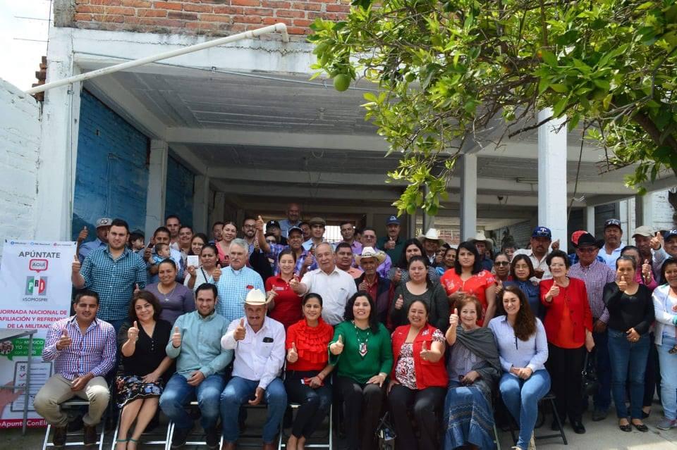 ARRANCA EN TEPECHITLÁN JORNADA PRIISTA DE AFILIACIÓN Y REFRENDO DE MILITANCIA