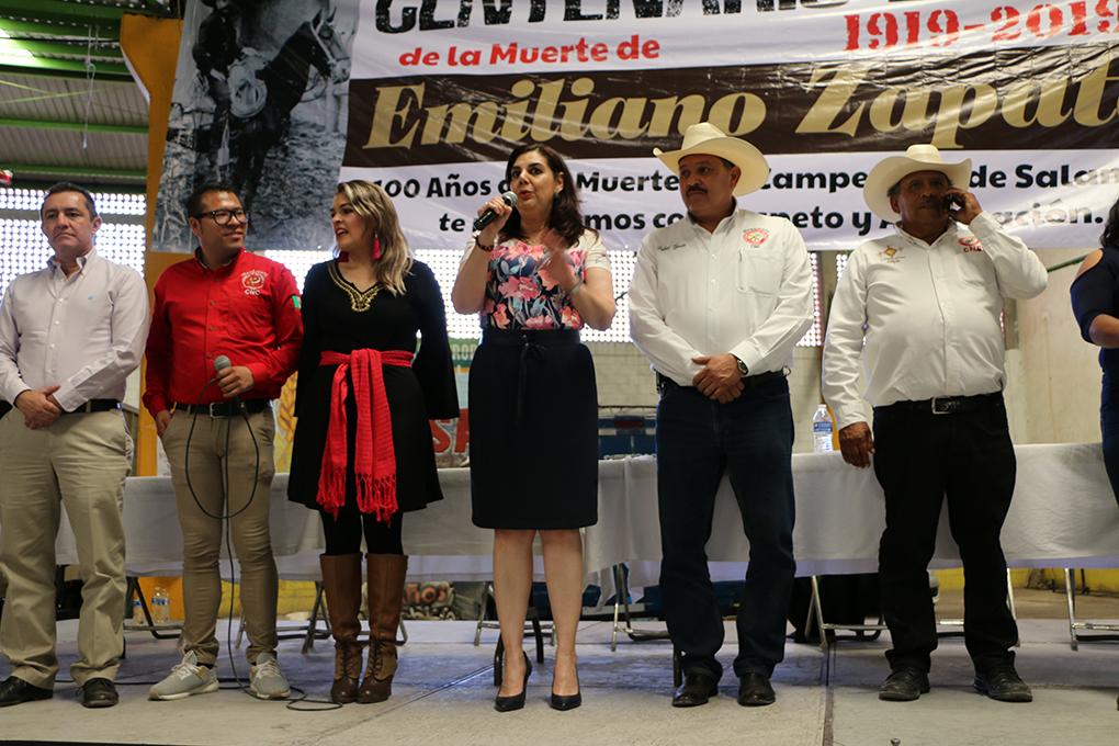 PRIISTAS DEL ESTADO RECORDARON A EMILIANO ZAPATA A 100 AÑOS DE SU MUERTE.