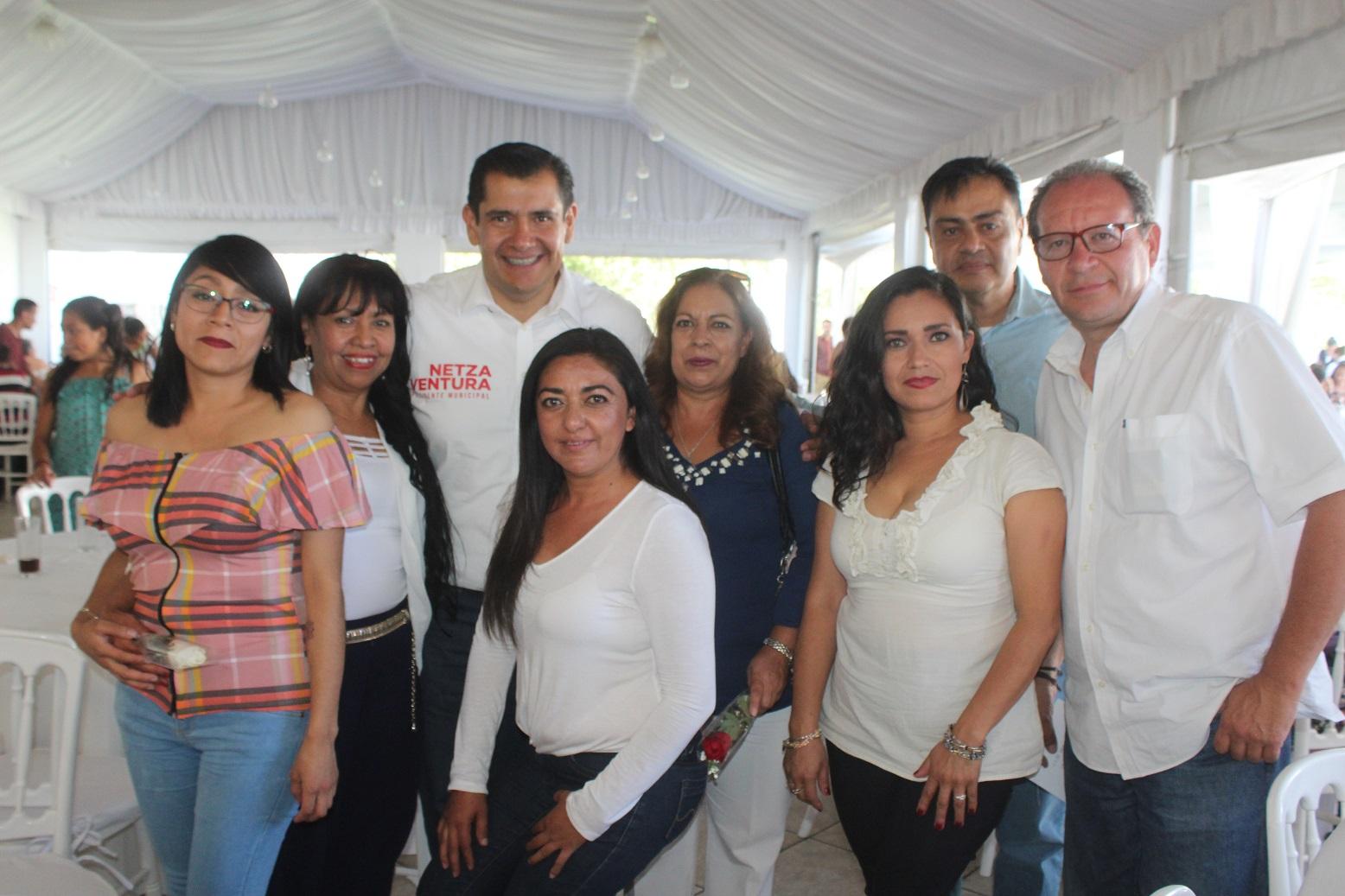 NETZA VENTURA CELEBRA EL 10 DE MAYO CON MUJERES LÍDERES DE COLONIAS Y COMUNIDADES