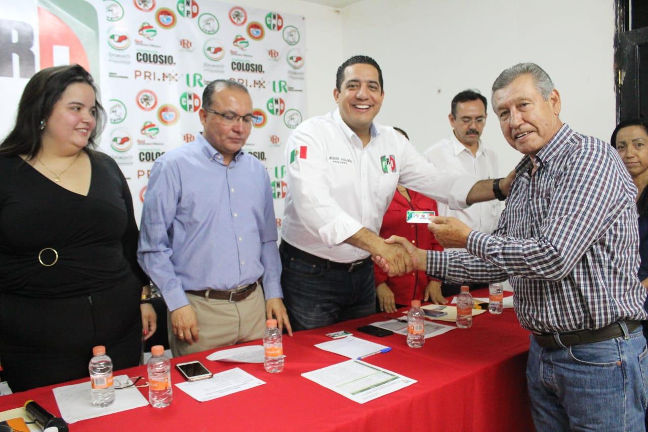 Encabeza Jesús Valdés acto de empadronamiento al PRI en Navolato