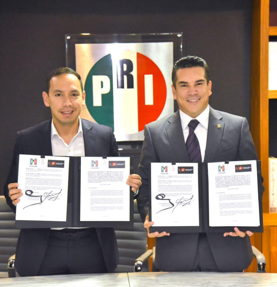 FIRMA EL PARTIDO REVOLUCIONARIO INSTITUCIONAL UN CONVENIO DE COLABORACIÓN CON EL PARTIDO LIBERAL COLOMBIANO