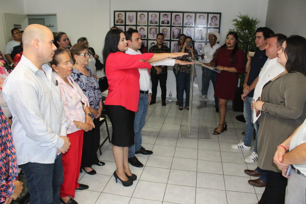 Tiene PRI Culiacán nueva secretaria general y secretario de acción electoral