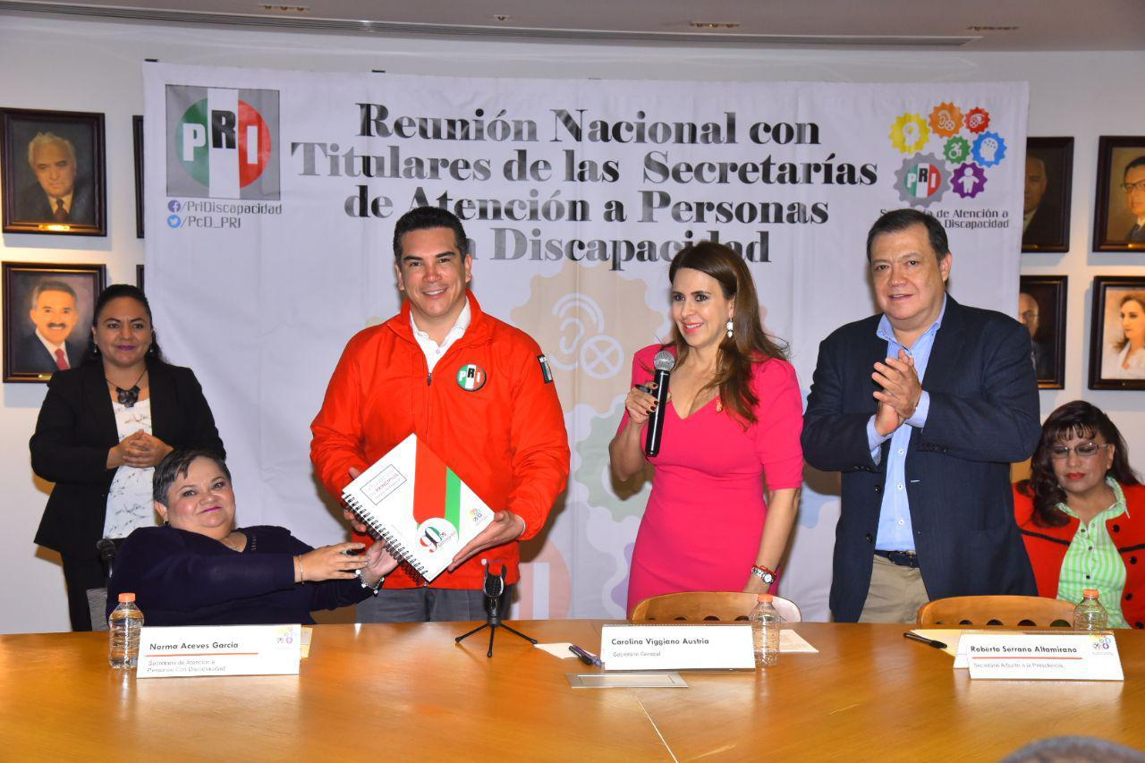 DIRIGENCIA NACIONAL DEL PRI SUSCRIBE DECÁLOGO INCLUYENTE EN FAVOR DE LAS PERSONAS CON DISCAPACIDAD