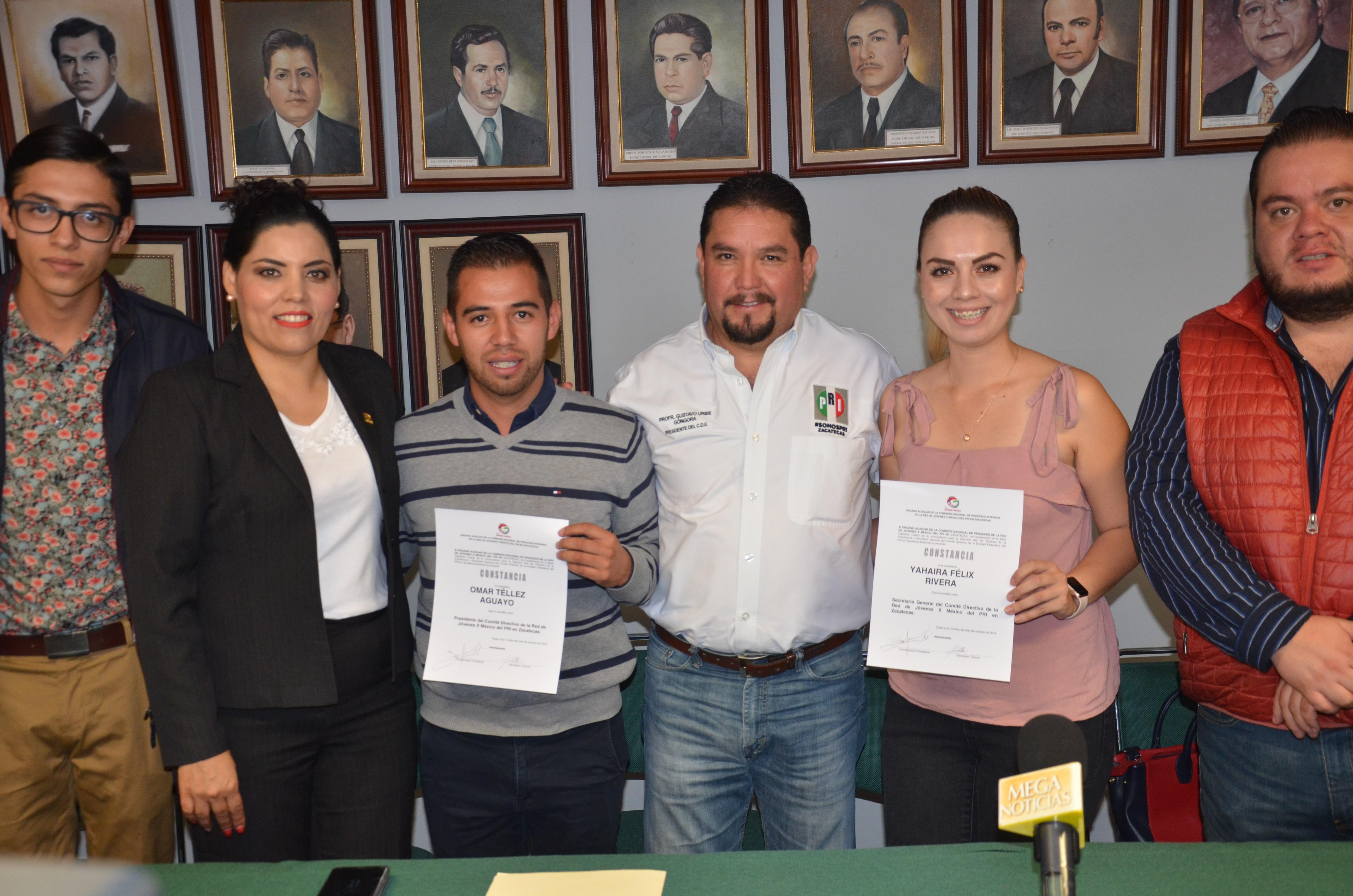 ENTREGAN CONSTANCIA DE MAYORÍA A LA DIRIGENCIA ELECTA DE LA RED JÓVENES X MÉXICO
