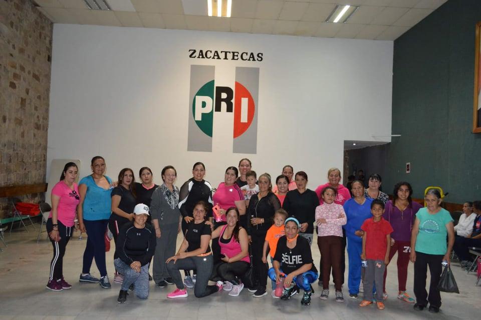 ENCABEZA SECRETARIA GENERAL DEL PRI ARRANQUE DE CLASES DE ZUMBA