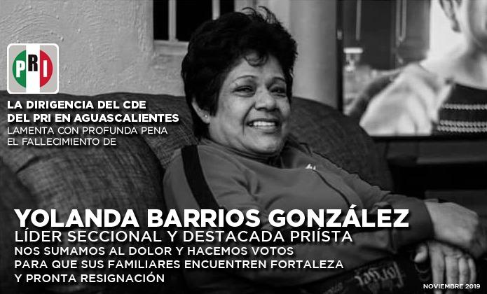 HOMENAJE EN EL PRI DE AGUASCALIENTES A LA TRAYECTORIA DE YOLANDA BARRIOS GONZÁLEZ CON MÁS DE 30 AÑOS DE MI...