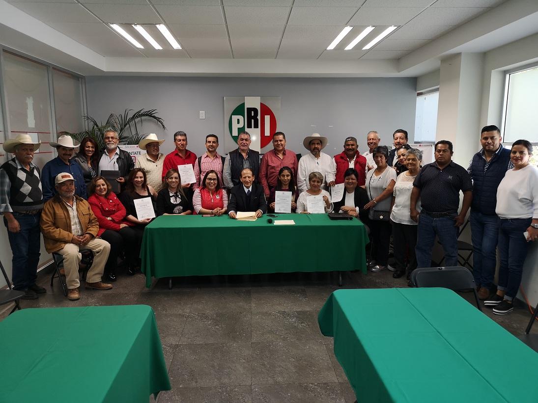 RINDEN PROTESTA ASIENTOS, JESÚS MARÍA Y SAN JOSÉ DE GRACIA, 3 NUEVAS DIRIGENCIAS PRIISTAS DE COMITÉS MUNICIPALES