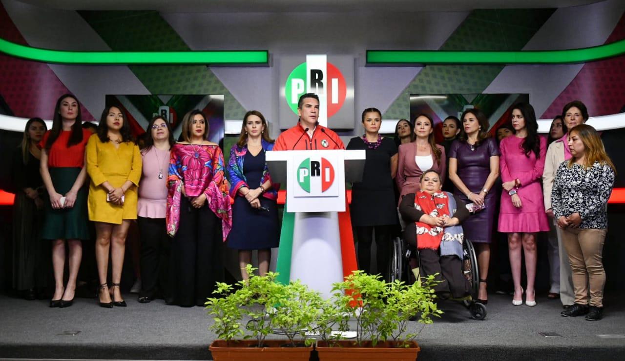EL PRI NO PERMITIRÁ QUE SE ABANDONE A LAS MUJERES DE MÉXICO: ALEJANDRO MORENO