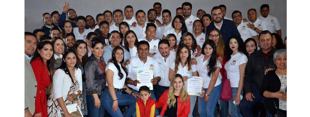 RINDEN PROTESTA DIRIGENTES DE LA RED JÓVENES X MÉXICO EN LA CAPITAL