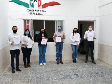 RINDEN PROTESTA VIRTUAL DIRIGENTES PRIISTAS DE JEREZ