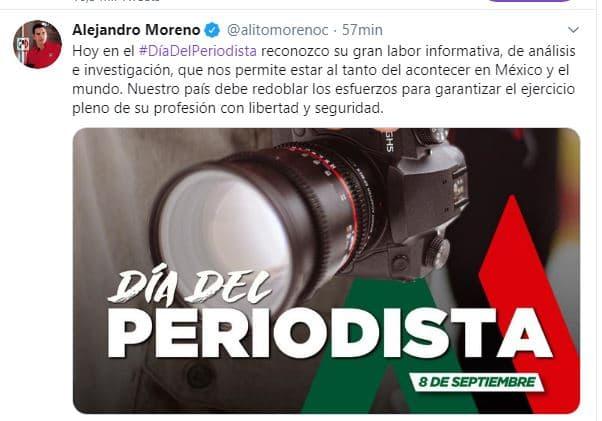 RESPETO Y JUSTICIA, PIDE EL PRI PARA PERIODISTAS