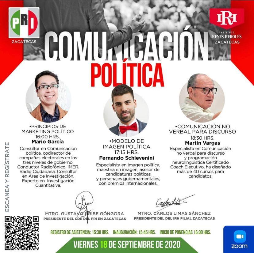EL PRI A TRAVÉS DEL IRH LLEVARÁ A CABO CURSO SOBRE COMUNICACIÓN POLÍTICA