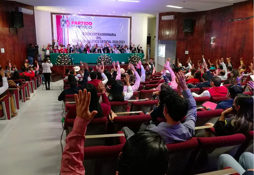 APRUEBA CONSEJO POLÍTICO ESTATAL DEL PRI MÉTODO PARA ELECCIÓN DE CANDIDATOS.