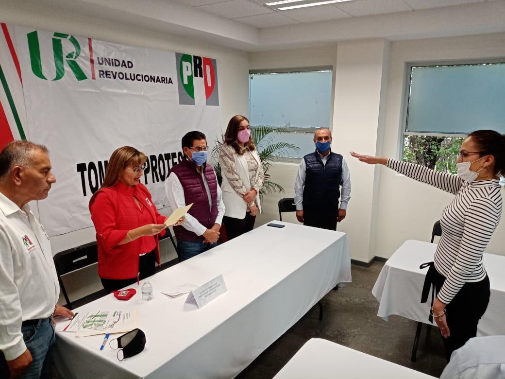 CELESTE STYVALY MARTÍNEZ RAMOS RINDE PROTESTA COMO PRESIDENTA DEL MOVIMIENTO FEMENIL REVOLUCIONARIO EN AGUASCALIENTES