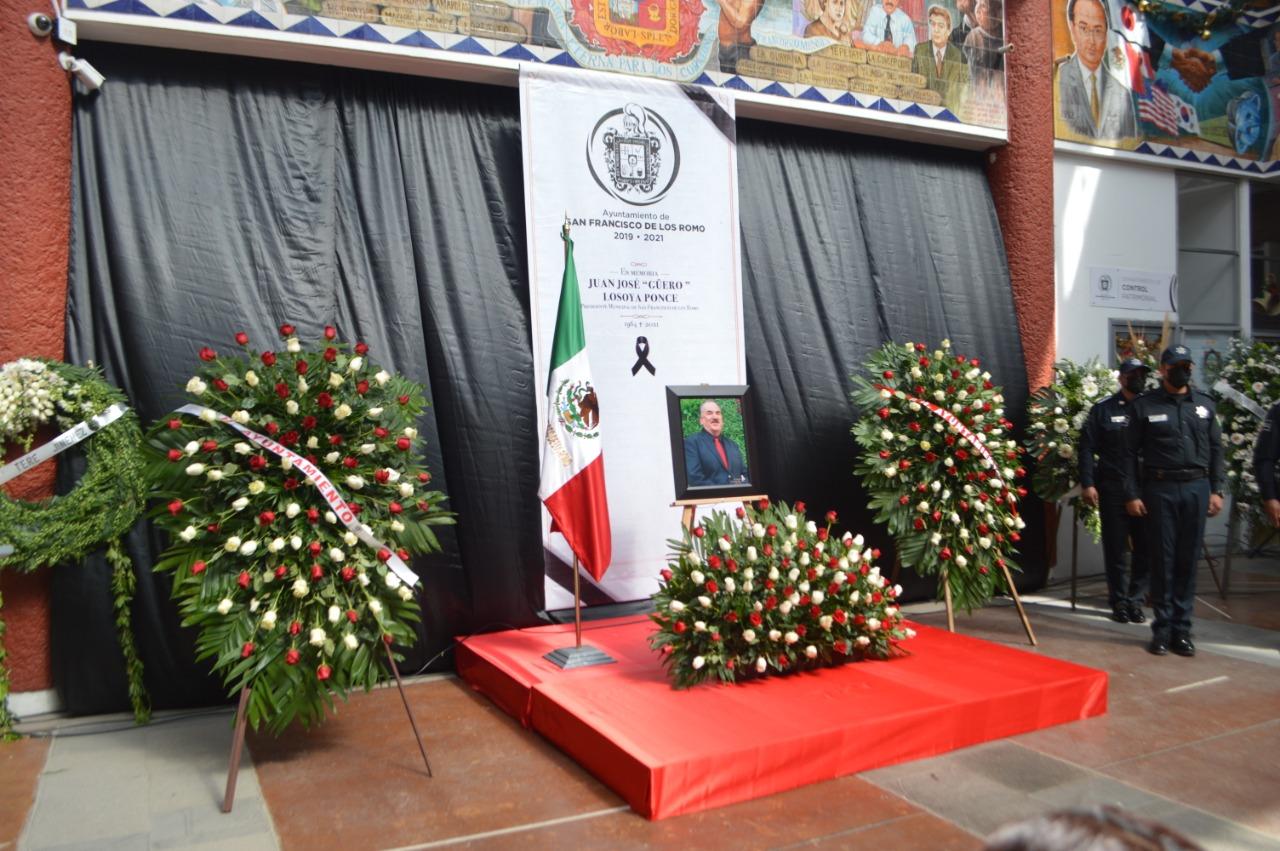 EN SAN FRANCISCO DE LOS ROMO MERECIDO HOMENAJE PÓSTUMO A LA MEMORIA DE NUESTRO PRESIDENTE MUNICIPAL PRIISTA, JUAN JOSÉ GÜERO LOSOYA