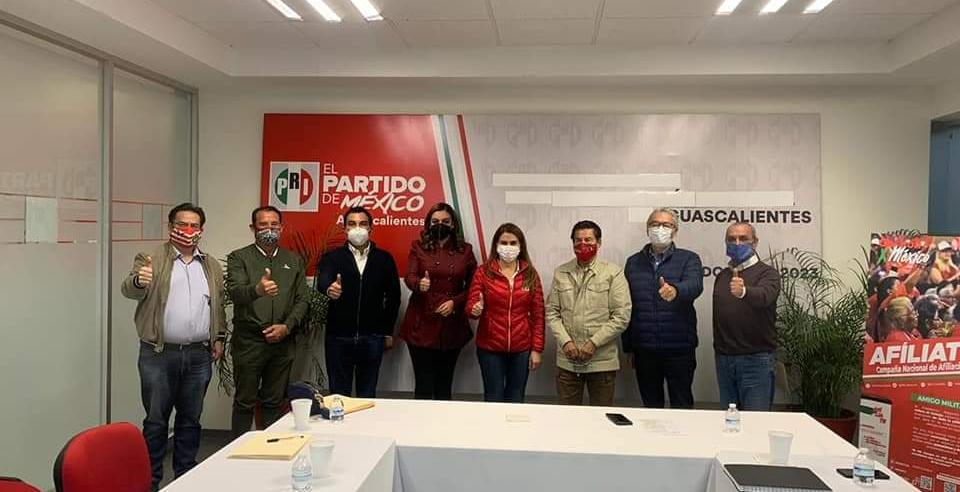 TOTAL RESPALDO DEL COMITÉ EJECUTIVO NACIONAL AL COMITÉ DIRECTIVO ESTATAL DEL PRI AGUASCALIENTES