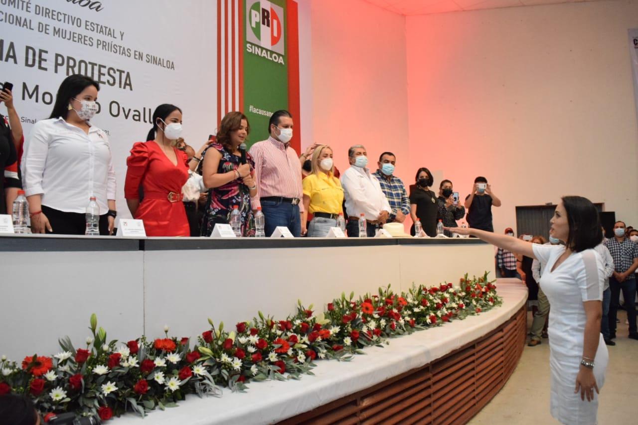 TOMA PROTESTA IRMA MORENO OVALLES, COMO PRESIDENTA DEL ORGANISMO NACIONAL DE MUJERES PRIÍSTAS EN SINALOA