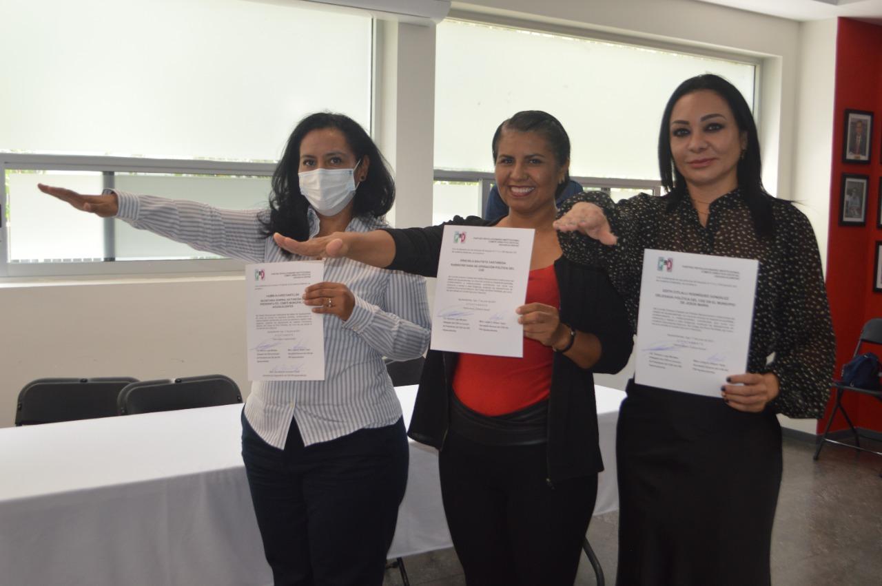 EL PRI CONSTRUYE CON LAS MUJERES Y RECONOCE SU TRABAJO: ENTREGA DE NOMBRAMIENTOS
