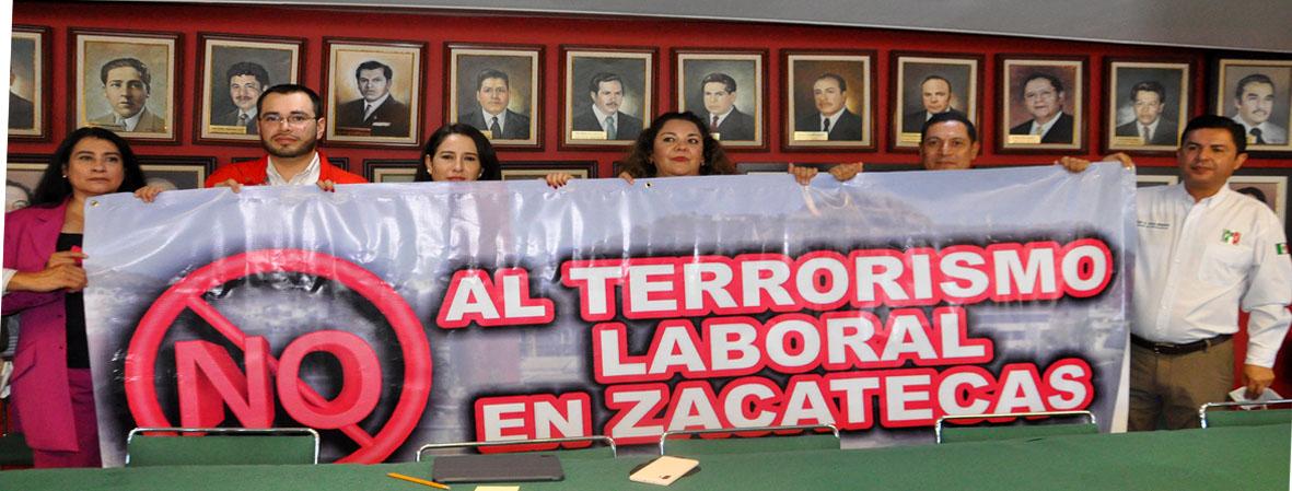 BASTA DE TERRORISMO LABORAL, EXIGE EL PRI