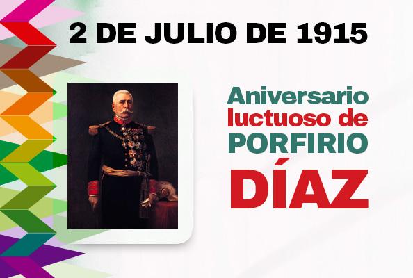 2 De Julio De 1915 Aniversario Luctuoso De Porfirio Diaz