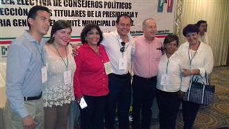 ABIMAEL IBARRA Y MARISELA AYALA DIRIGENTES ELECTOS DEL COMITÉ DIRECTIVO MUNICIPAL DEL PRI EN LA PAZ