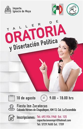 TALLER DE ORATORIA Y DISERTACIÓN POLÍTICA