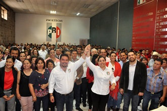 GUSTAVO URIBE Y VERÓNICA HERNÁNDEZ, ÚNICA FÓRMULA QUE SE REGISTRA PARA DIRIGIR EL PRI ESTATAL