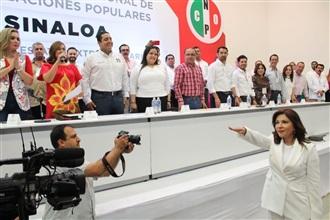 ELIGEN A GLORIA HIMELDA FÉLIX COMO NUEVA SECRETARIA GENERAL DE LA CNOP SINALOA