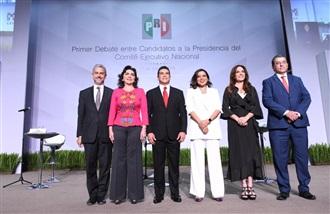 HISTÓRICO DEBATE ENTRE CANDIDATOS A LA DIRIGENCIA NACIONAL DEL PRI