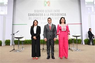 EN AMPLIO EJERCICIO DEMOCRÁTICO, CANDIDATOS A DIRIGENCIA DEL PRI PARTICIPAN EN SEGUNDO DEBATE