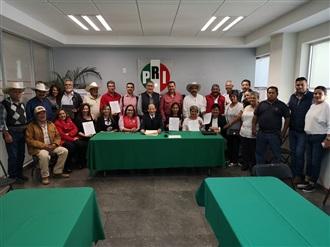RINDEN PROTESTA ASIENTOS, JESÚS MARÍA Y SAN JOSÉ DE GRACIA, 3 NUEVAS DIRIGENCIAS PRIISTAS DE COMITÉS MUNIC...