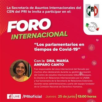 """ORGANIZA PRI FORO """"LOS PARLAMENTARIOS EN TIEMPOS DE COVID-19"""""""