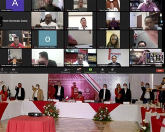 TOMA PROTESTA PRESIDENTE DEL CEN A CONSEJO POLÍTICO ESTATAL 2020-2023.