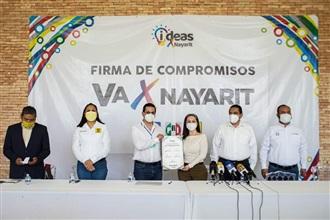 FIRMAN PAN, PRI Y PRD COMPROMISOS POR NAYARIT