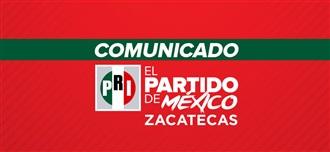 PRESENTA DENUNCIA EL PRI ANTE LA FGJZ POR PUBLICACIÓN Y DIFUSIÓN DE ENCUESTA EN PLENO PROCESO ELECTORAL