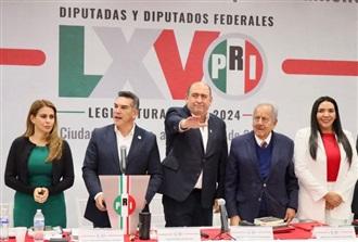ELIGEN POR UNANIMIDAD A RUBÉN MOREIRA COORDINADOR DE LOS DIPUTADOS FEDERALES DEL PRI PARA LA LXV LEGISLATURA