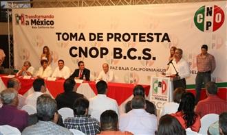 JESÚS FLORES ROMERO TOMÓ PROTESTA COMO NUEVO DIRIGENTE DE CNOP BCS